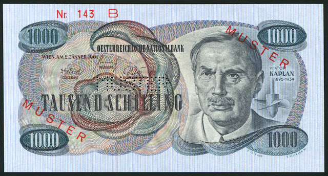 Austria euro money currency 1000 Austrian Schilling banknote