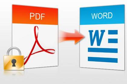 Cara Mengubah Pdf Ke Word Convert Online Dengan Software Dan Tanpa Software