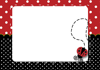 Ladybug Party Free Printable Invitations, Labels or Cards.
