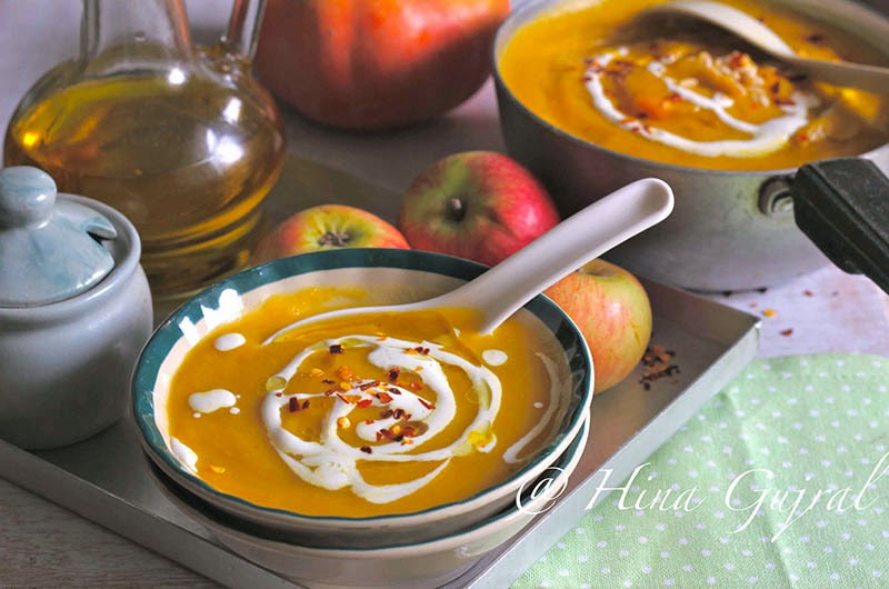as well as apple tree flavored amongst whole spices as well as a dash of curry pulverization Curried Pumpkin Soup Recipe