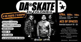 Concierto de regreso de DA SKATE a Bogotá 2019