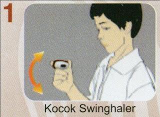 4 Langkah mudah memakai Obucort Swinghaler