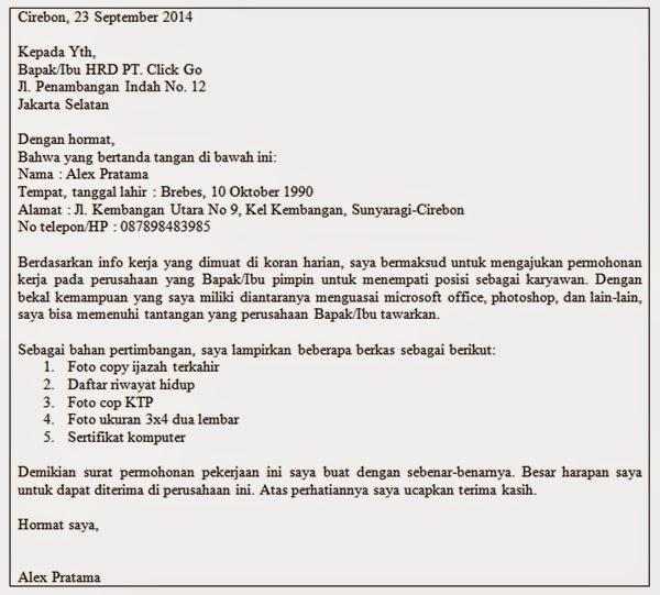 18 Contoh Surat Pribadi Setengah Resmi Kumpulan Contoh Surat