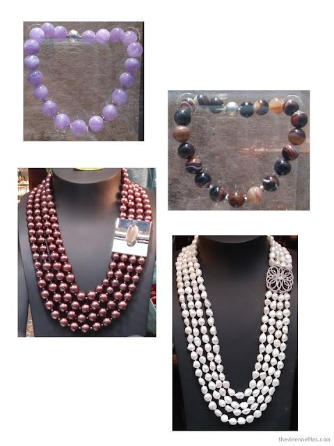 statement necklaces in Paris store windows October 2017