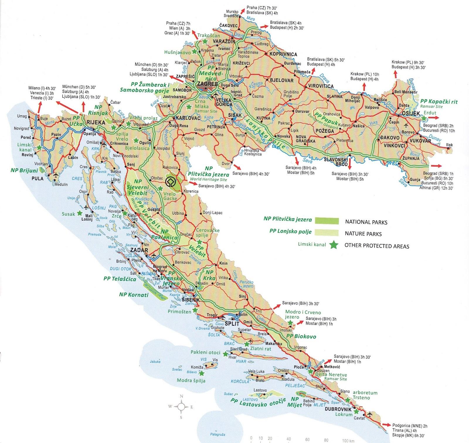 Harta Harta Rutiera Croatia