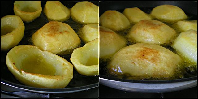Friendo las patatas