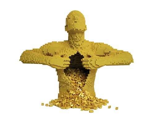 nathan-sawaya-arte-artista-obras-escultor-escultura-lego-the-art-of-the-brick-entrevista-interview-fine-artist-works-hugman-figure-phrases-frases-citas-contemporaneo-exposition-exposiciones-foto-photo-imagen-picture