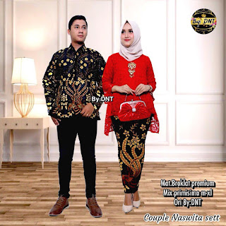 Batik Couple Kebaya Brokat Naswita
