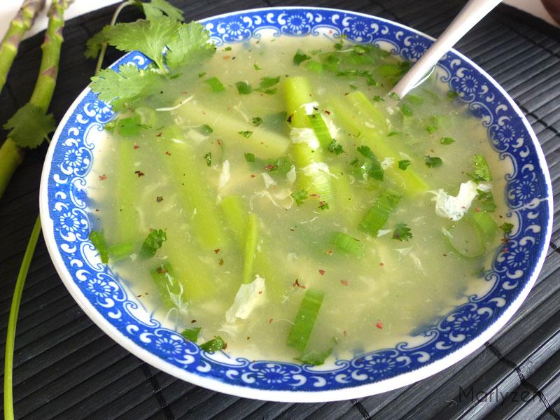 Soupe de crabe aux asperges