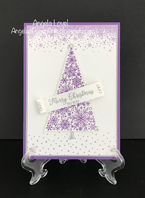 Stampin' Up! Snow is Glistening card by Angela Lovel, Angela's PaperArts