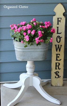 Pedestal Legged Junk Garden Planter