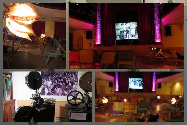 Silent film screening at the Flors i Violes Festival in Palafrugell in Costa Brava, Spain