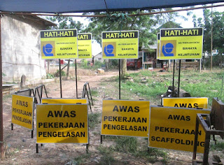 Safety sign, rambu keselamatan, rambu K3, Sign board