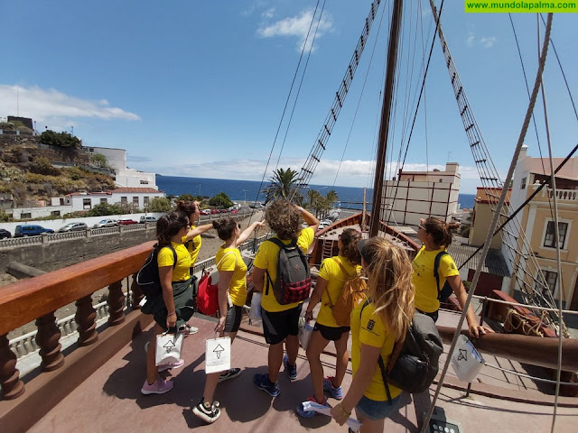 Santa Cruz de La Palma organiza una gymkana para los integrantes del proyecto 'Lanzarote conecta con Canarias'