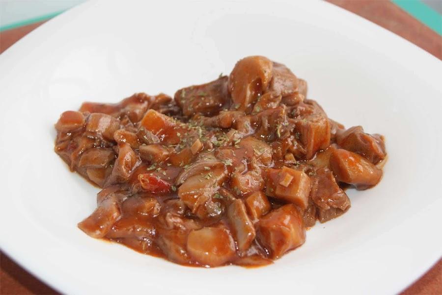 receta de setas estofadas con tomate