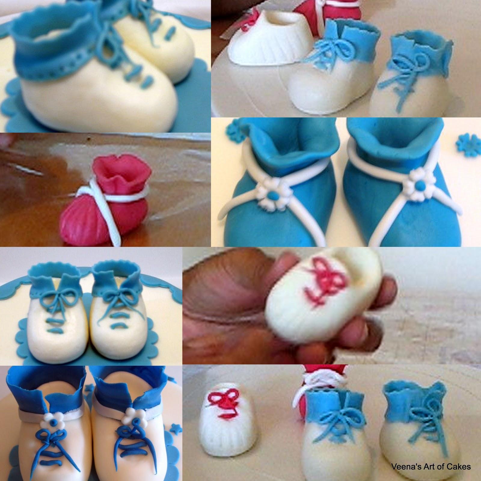 How to make a gumpaste baby shoes cakecentral. Com.