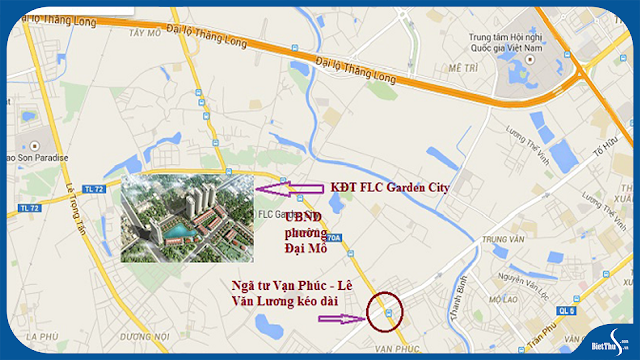 Vị trí dự án FLC Garden City - Đại Mỗ