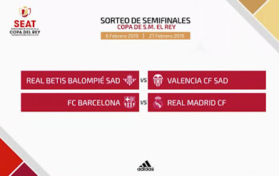 Barça-Madrid en las semifinales de la Copa