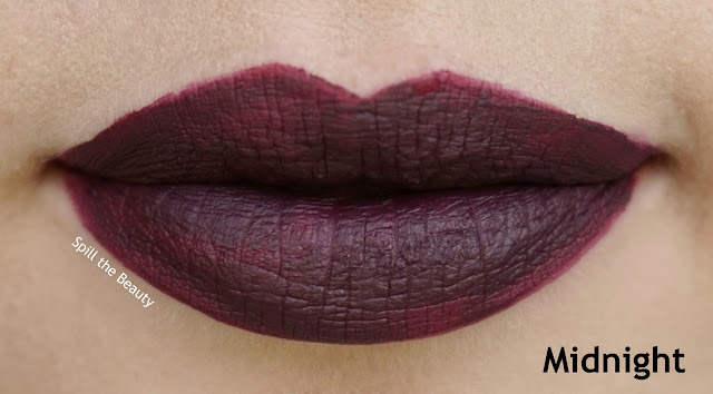 rimmel london stay matte liquid lip color review swatches 800 midnight