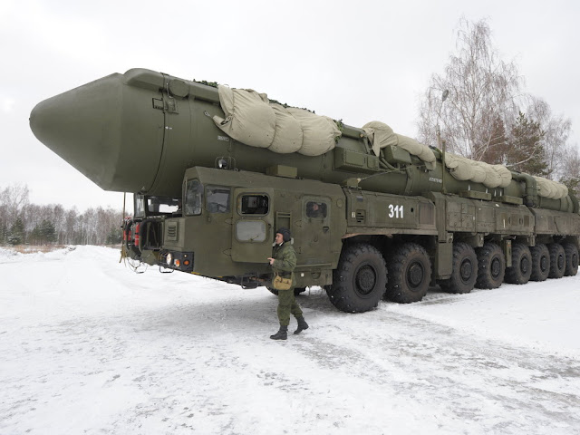 "Image Attribute: File photo of APU 15U175M of RS-24 ""Yars"" ICBM on display for the reporters in the Teikov division/ Date: Nov 29, 2011. (Photo - Sergey Pyatakov, http://visualrian.ru/)"