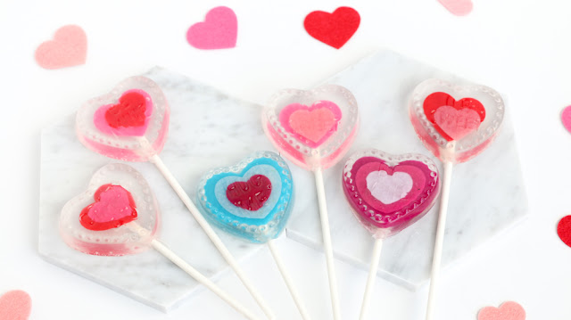 DIY Conversation Heart Soap Pops for Valentine's Day
