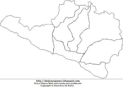 Dibujo del Mapa político de Arequipa sin nombre para colorear pintar imprimir por Jesus Gómez