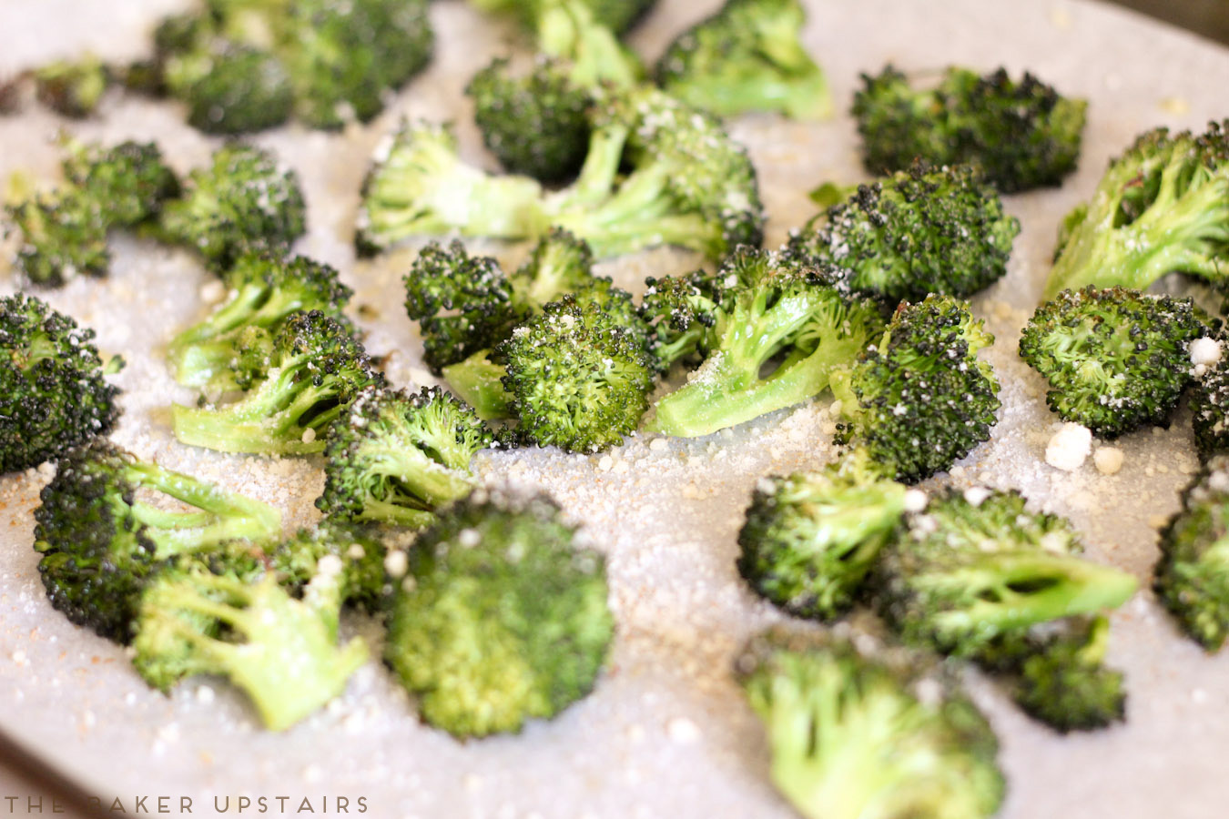 Roasted garlic parmesan broccoli - so easy to make and so delicious!