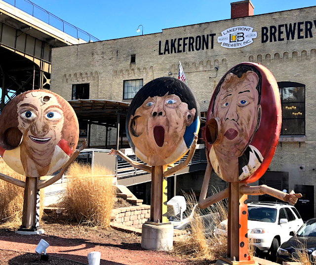 The Three Stooges welcome brewery visitors!
