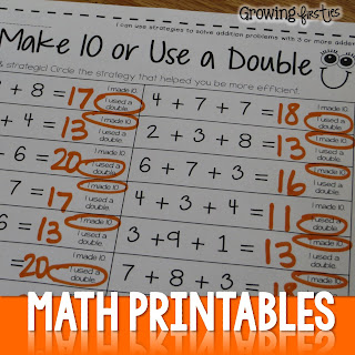 Multiples of 10 for first grade Near tens