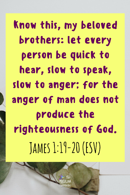 James 1:19-20 | Be slow to anger and quick to listen. Reject an attitude of entitlement. Live selflessly. | #bible #Christianity #faith