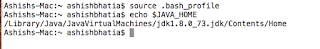 Re Loading .bash_profile in MAC OS