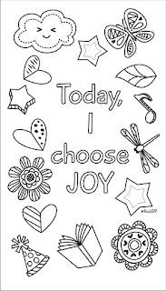 today i choose joy digital doodle