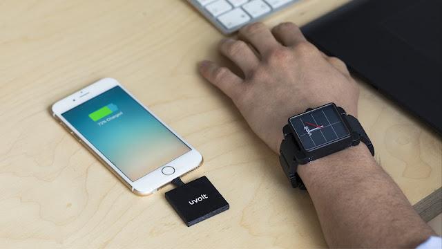 Uvolt Smartphone Charging Solar Watch