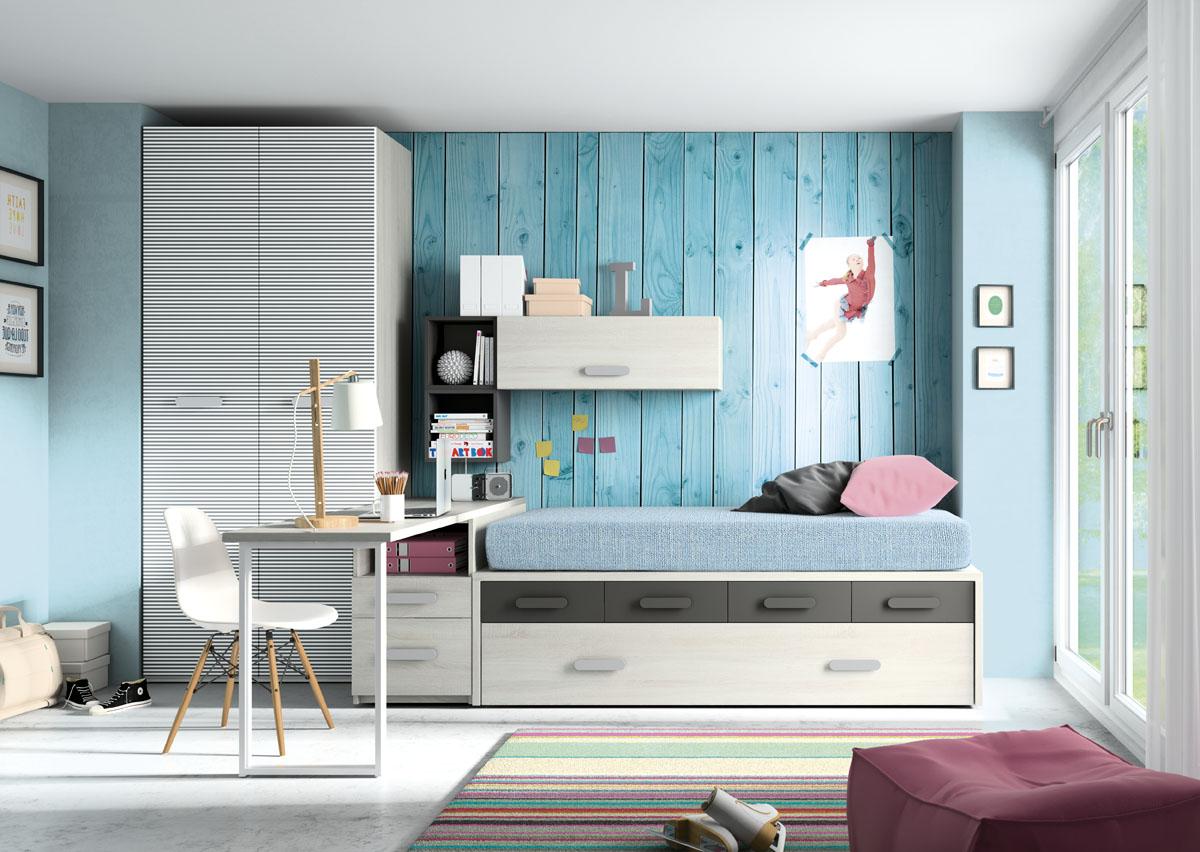 Dormitorio juvenil compacto 1402 for Dormitorio juvenil compacto