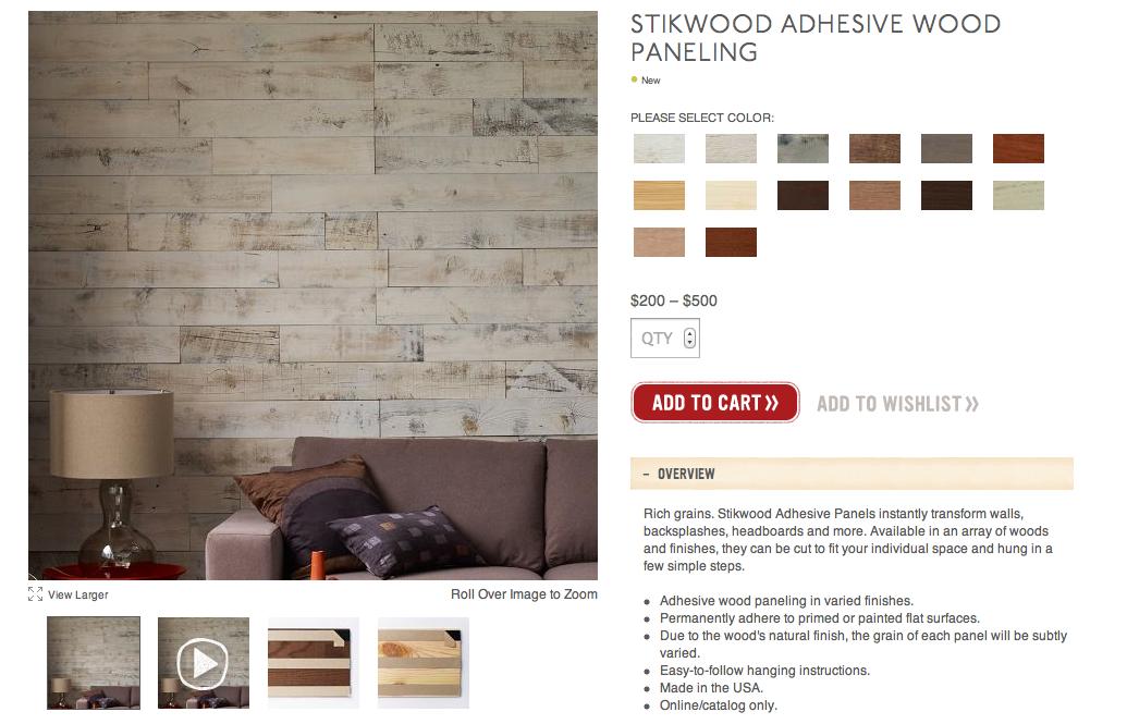 My Notting Hill Stikwood Peel Amp Stick Real Wood Paneling