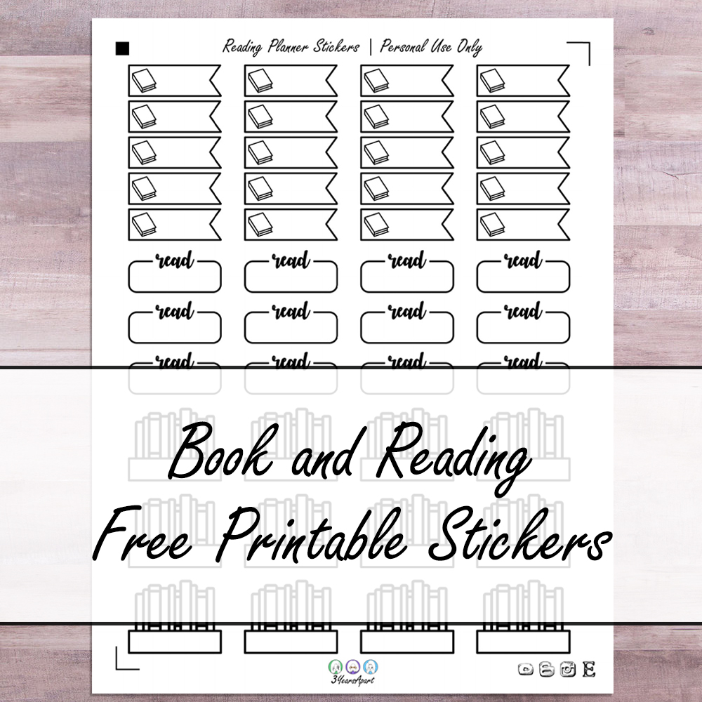 photograph about Reading Journal Printable named Ebook Reading through Stickers Cost-free Printable Planner and Bullet