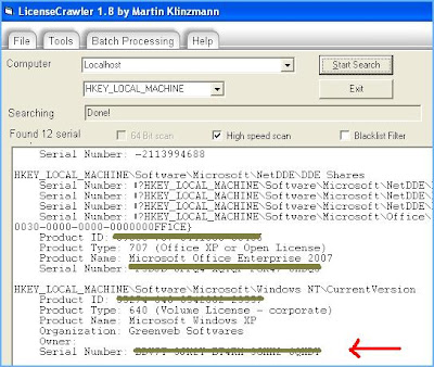 How to Find License keys of Installed Softwares