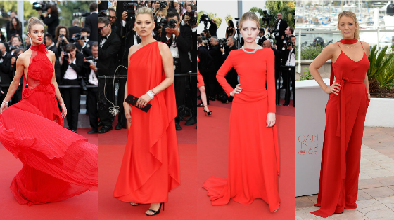 vestidos de festa vermelho cannes