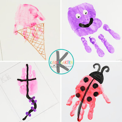 i is for ice cream, j is for jellyfish, k is for kite, l is for ladybug - a to z letter crafts for prek and kindergarten