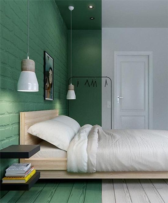 parede verde, green wall, parede colorida, pintar parede, a casa eh sua, acasaehsua, decoração, decor