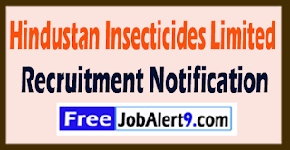 HIL Hindustan Insecticides Limited Recruitment Notification 2017 Last Date 10-08-2017