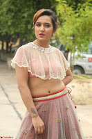 Aafia Bhardwaj looks stunning in transparent pink small choli chunni ghargra at launch of India Silk Expo ~ Exclusive Celebrity Galleries 031.JPG