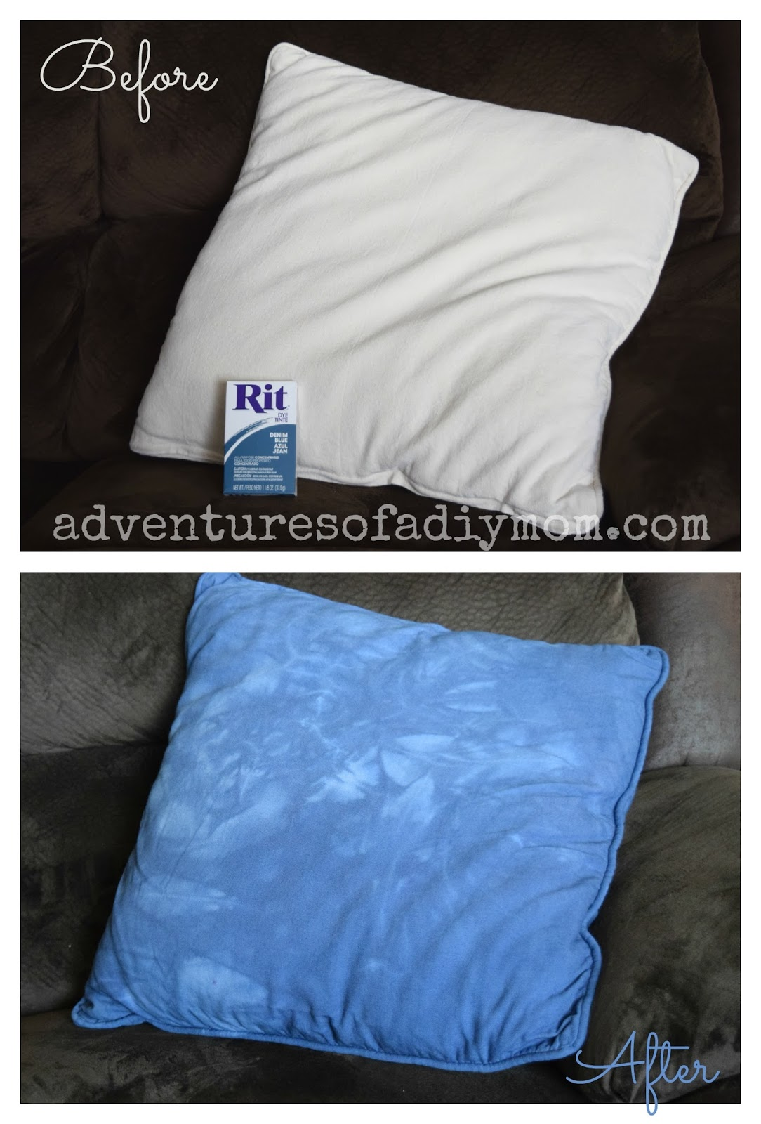 How to Dye a Pillow Before and After