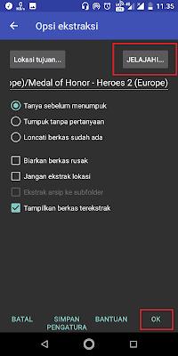 Sobat pilih terlebih dahulu tempat file pengekstrakkan. Kemudian klik Ok dan tunggu proses pengekstrakkan hingga selesai.