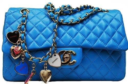 classic Chanel blue 2.55 bag