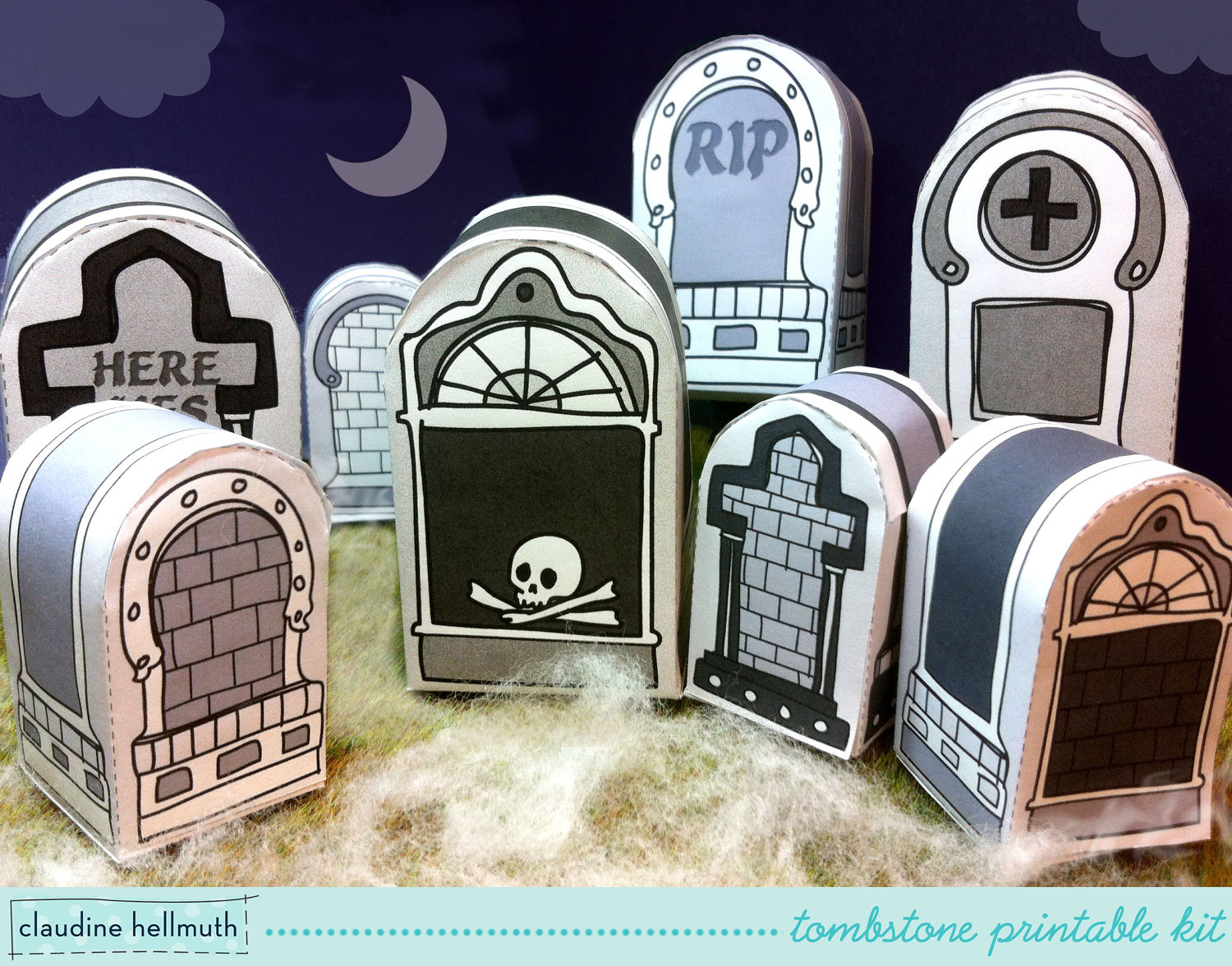 picture regarding Tombstone Printable identify claudine muths weblog: retro * whimsical artwork and instance