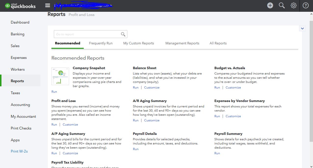 Akuntan Proyek Cara Melihat Reports Total Expenses Di Intuit Quickbooks Online Su Selviautama