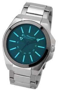 water-repellent Ben Sherma Mens Quartz Watch Blue Dial Analogue Silver Bracelet £17.4