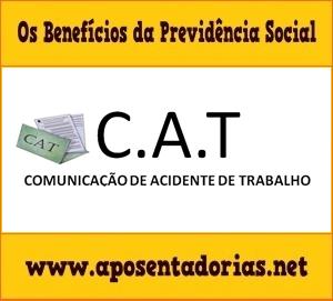 Comunicação de Acidente de Trabalho, CAT, deve ser Registrada no INSS.