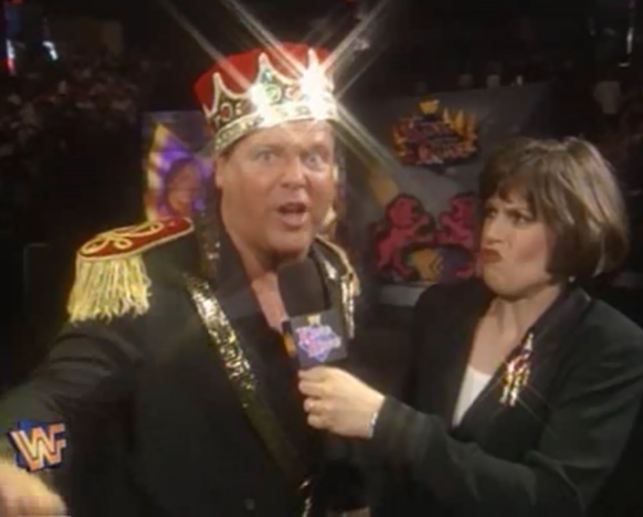 WWF / WWE - King of the Ring 1995 - Jerry Lawler speaks to Stephanie Wiand before his match against Bret Hart